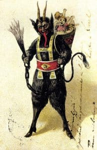 Krampus, el demonio de navidad con latigo
