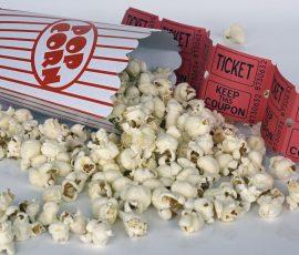 palomitas y entradas de cine